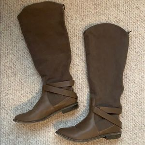 BDG brown knee high boots